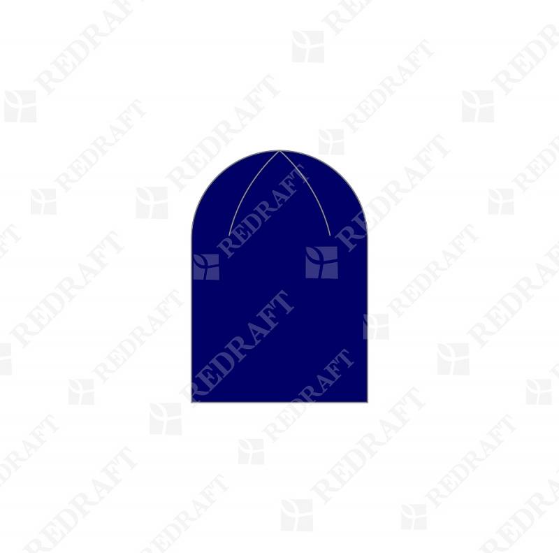 Шапка вязанная удлиненная без отворота Арт. 04