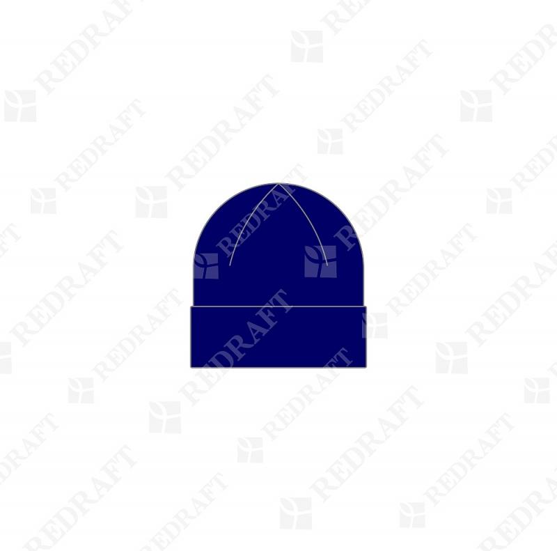 Шапка вязанная удлиненная с отворотом Арт. 05