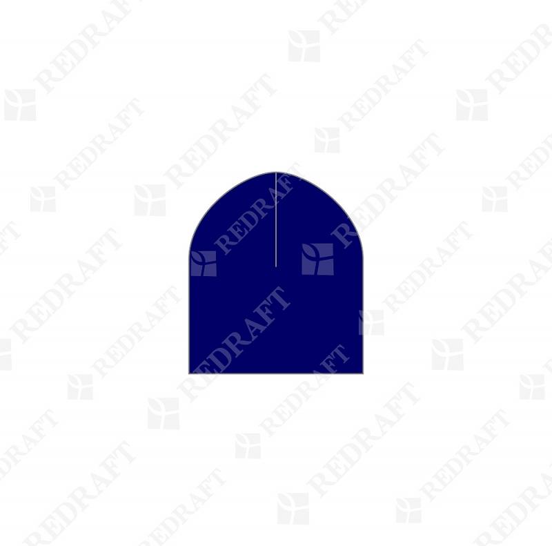 Шапка вязанная короткая без отворота Арт. 06