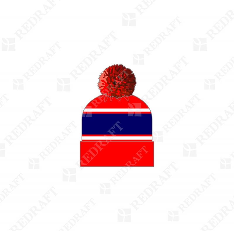 Шапка вязанная удлиненная с отворотом, цветная Арт. 07